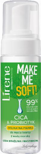 Lirene - MAKE ME SOFT! - Delikatna pianka do mycia twarzy - Cera wrażliwa i naczynkowa - 150 ml