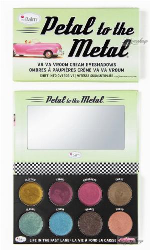 THE BALM - Petal to The Metal - Va Va Vroom Cream Eyeshadows - Paleta 8 metalicznych cieni do powiek w kremie - Shift into Overdrive