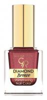 Golden Rose - Diamond Breeze - Shimmering Nail Color - Brokatowy lakier do paznokci - 10,5 ml - 04 - PLUM SPARKLE - 04 - PLUM SPARKLE