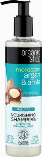 ORGANIC SHOP - NATURAL NOURISHING SHAMPOO - Odżywczy szampon do włosów z arganem i amla - Maroccan Argan & Amla - 280 ml