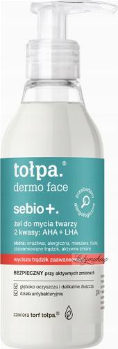 Tołpa - Dermo Face Sebio + Żel do mycia twarzy z 2 kwasami AHA + LHA - 195 ml
