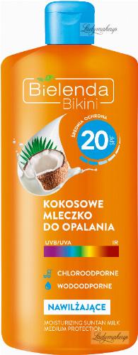 Bielenda - Bikini - Kokosowe mleczko do opalania - Wodoodporne - SPF 20 - 200 ml