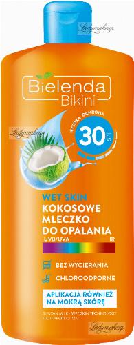 Bielenda - Bikini - Wet Skin - Wodoodporne kokosowe mleczko do opalania - SPF 30 - 200 ml