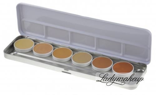 Kryolan - Dermacolor - Camouflage Creme - Paleta podkładów do twarzy - kamuflaż - 71007