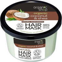 ORGANIC SHOP - Natural Moisturising Hair Mask - Tropical Coconut & Shea - Coconut and shea butter - 250 ml