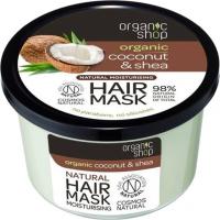 ORGANIC SHOP - Natural Moisturising Hair Mask - Tropical Coconut & Shea - Coconut and shea butter - 250 ml
