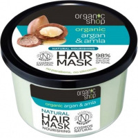 ORGANIC SHOP - Natural Nourishing Hair Mask - Maroccan Argan & Amla - Naturalna odżywcza maska do włosów - Argan i amla - 250 ml