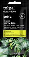 Tołpa - Dermo Face Sebio - Maska do twarzy Czarny Detox - 8 ml