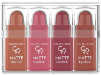 Golden Rose - Matte Lipstick Mix - Zestaw 4 matowych mini pomadek do ust