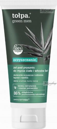 Tołpa - Green Men - Oczyszczający żel pod prysznic do mycia ciała i włosów 2w1 dla meżczyzn - 200 ml