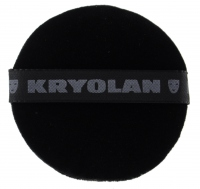 Kryolan - BLACK powder puff 8 cm - 1718/01
