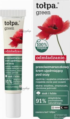 Tołpa - Green - Przeciwzmarszczkowy krem ujędrniający pod oczy - Mak i łubin - 15 ml