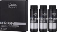 L'Oréal Professionnel - HOMME - COVER 5' - Żel do koloryzacji włosów dla mężczyzn - 3 x 50 ml - 6 - DARK BLONDE - 6 - DARK BLONDE
