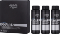 L'Oréal Professionnel - HOMME - COVER 5' - Żel do koloryzacji włosów dla mężczyzn - 3 x 50 ml