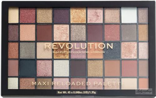 MAKEUP REVOLUTION - MAXI RELOADED PALETTE - SHADOW PALETTE - Paleta 45 cienie do powiek - LARGE IT UP