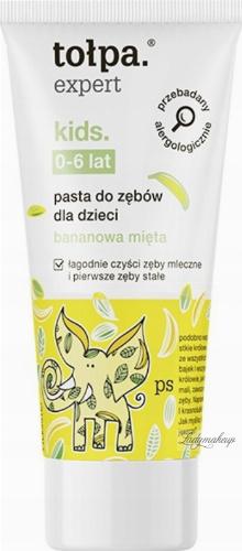 Tołpa - Expert Kids - Pasta do zębów dla dzieci 0-6 lat - Bananowa mięta - 50 ml