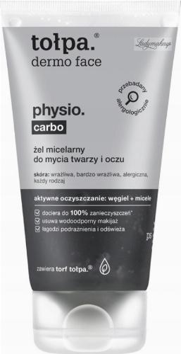 Tołpa - Dermo Face Physio Carbo - Żel micelarny do mycia twarzy i oczu - 150 ml