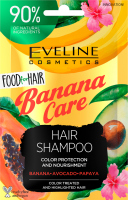 Eveline Cosmetics - Food for Hair - Hair Shampoo Color Protection And Nourishment - Shampoo for colored hair with highlights - Banana Care - 20 ml