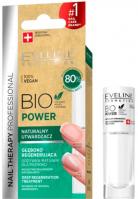 Eveline Cosmetics - NAIL THERAPY PROFESSIONAL - BIO POWER - Naturalny utwardzacz / odżywka do paznokci - 8 ml