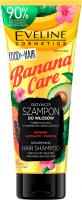 Eveline Cosmetics - Food for Hair - Nourishing Hair Shampoo - Odżywczy szampon do włosów farbowanych, z pasemkami i zniszczonych - Banana Care - 250 ml