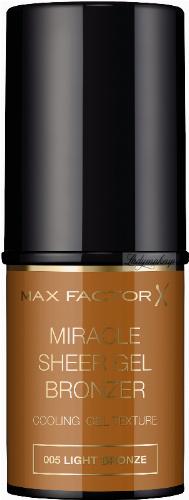 Max Factor - MIRACLE SHEER GEL BRONZER - Bronzer w sztyfcie - 005 LIGHT BRONZE