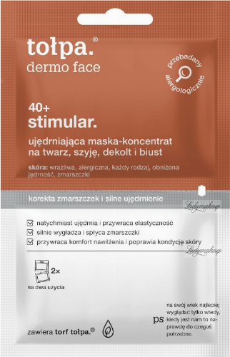 Tołpa - Dermo Face 40+ Stimular - Ujędrniająca maska koncentrat na twarz, szyję, dekolt i biust - 2 x 6 ml