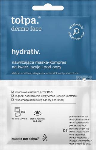 Tołpa - Dermo Face Hydrativ - Nawilżająca maska kompres na twarz, szyję i pod oczy - 2 x 6 ml