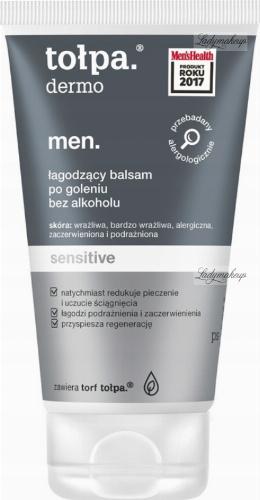 Tołpa - Dermo Men Sensitive - Łagodzący balsam po goleniu bez alkoholu - 125 ml