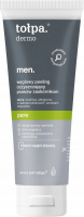 Tołpa - Dermo Men Pure - Charcoal cleansing peeling against blackheads for men - 100 ml