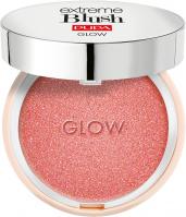 PUPA - EXTREME BLUSH - GLOW - Rozświetlający róż do policzków - 100 EXOTIC ROSE