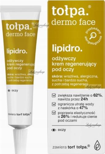 Tołpa - Dermo Face Lipidro - Odżywczy krem regenerujący pod oczy - 10 ml