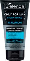 Bielenda - Only for Man - Hydra Force - Hialuron - Nawilżająco-łagodzący żel do mycia twarzy dla mężczyzn - 150 g