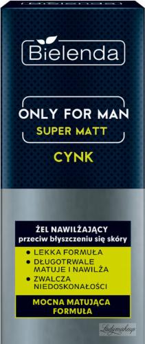 Bielenda - Only for Man - Super Matt - Zinc - Moisturizing face gel against shiny skin for men - 50 ml