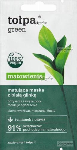 Tołpa - Green - Matująca maska do twarzy z białą glinką - 8 ml