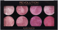 MAKEUP REVOLUTION - 8 BLUSH PALETTE - BLUSH QUEEN - Paleta róży