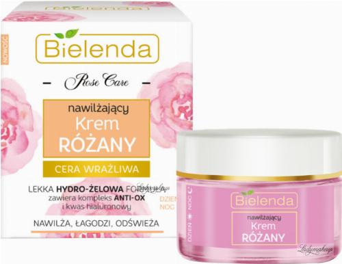 Bielenda - Rose Care - Moisturizing Rose Cream - Nawilżający krem różany do cery wrażliwej - Dzień / Noc - 50 ml