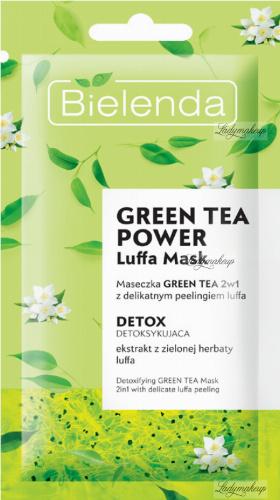 Bielenda - GREEN TEA POWER LUFFA MASK - Detoxifying face mask with loofah peeling - 8 g