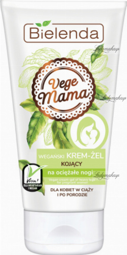 Bielenda - Vege Mama - Vegan soothing cream-gel for heavy legs - For pregnant and postpartum women - 125 ml