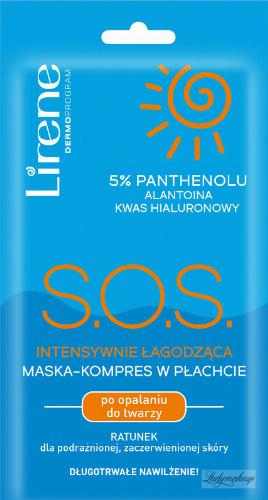 Lirene - S.O.S. intensywnie łagodząca maska-kompres w płachcie po opalaniu do twarzy
