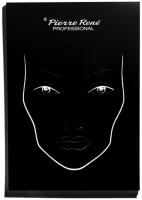 Pierre René - FACE CHARTS - Zestaw 25 szablonów do projektowania makijażu
