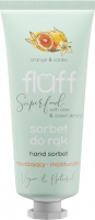 FLUFF - Superfood - Hand Sorbet - Moisturizing hand sorbet - Orange and vanilla - 50 ml