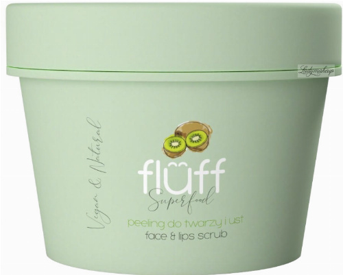 FLUFF - Superfood - Face & Lips Scrub - Face and lip scrub - Exotic kiwi