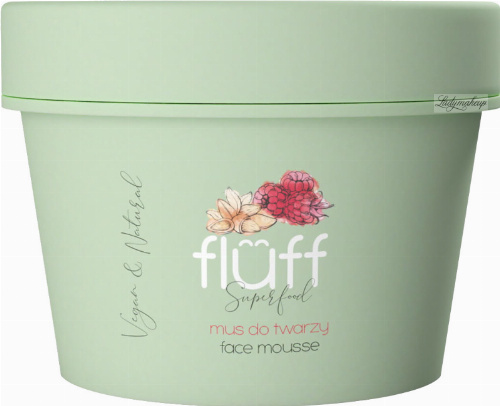 FLUFF - Superfood - Facial Cleansing Mousse - Mus do mycia twarzy - Malina i migdały - 50 ml