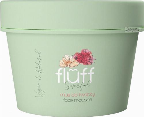 FLUFF - Superfood - Facial Cleansing Mousse - Mus do mycia twarzy - Malina i migdały - 50 ml