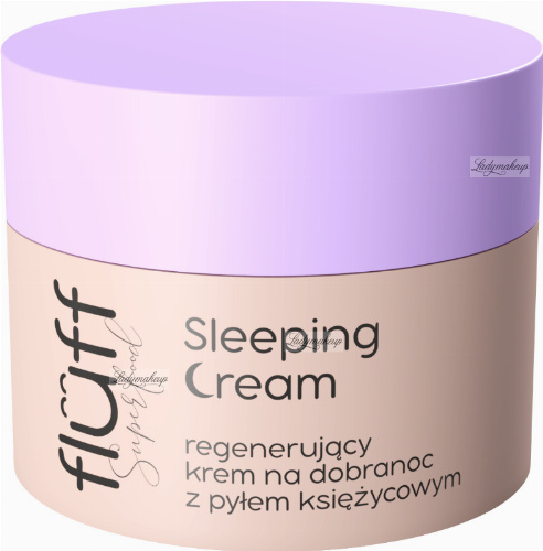 FLUFF - Superfoods - Sleeping Cream - Regenerujący krem do twarzy na dobranoc z pyłem księżycowym - 50 ml