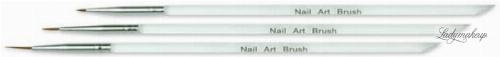NeoNail - BRUSH SET FOR DECORATIONS - Zestaw 3 pędzelków do zdobień paznokci - 7732