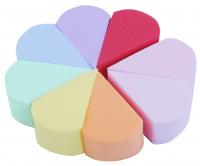 Inter-Vion - Set of 8 make-up sponges - Rainbow - 498735