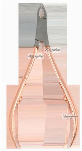 Inter-Vion - Premium Line - Cuticle Nippers - Cążki do skórek - 3 mm - Rose Gold
