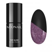 NeoNail - TOP GLOW - UV GEL POLISH - Top / lakier nawierzchniowy z błyszczącymi drobinkami - 7,2 ml - ART. 7809-7 - TOP GLOW SPARKLING