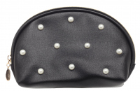 Inter-Vion - Cosmetic Pouch with Pearls - Large Semicircular - 415183